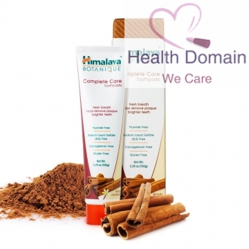 Botanique Complete Care Teeth Whitening Toothpaste 150g By Himalaya Herbals - Simply Cinnamon Flavour