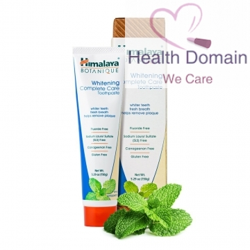 Botanique Complete Care Teeth Whitening Toothpaste 150g By Himalaya Herbals - Simply Peppermint
