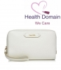 Soleil Blanc Medium Leather Cosmetic Bag