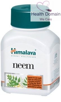Neem Azadirachta Indica Acne Skin Care Anti Bacterial 60 Capsules By Himalaya Herbal