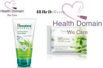 Purifying Neem Face Wash + Neem Facial Wipes (25 Wipes) By Himalaya Herbals