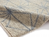 Alpha Al73 Beige/blue Textured Hand Knotted Rug - 100% Wool