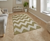 Cottage Ct5191 Green Flatweave Machine Made Rug - 100% Polypropylene