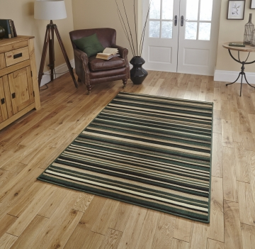Diamond 220a Dark Green Budget Machine Made Rug - 100% Polypropylene