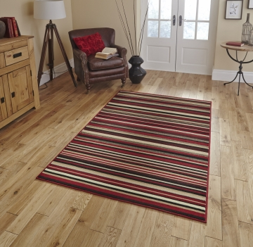 Diamond 220a Red Budget Machine Made Rug - 100% Polypropylene