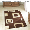 Dark Brown Cream Rug For Living Room Rug - 100% Polypropylene Diamond 2751