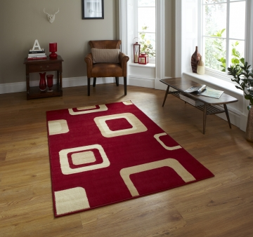 Diamond 2751 Red Budget Machine Made Rug - 100% Polypropylene