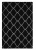 Elements El 65 Black Modern Hand Tufted Rug - 100% Wool