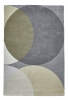 Elements El43 Grey Modern Hand Tufted Rug - 100% Wool
