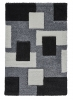 Fashion 7646 Grey Modern Machine Made Rug - 100% Polypropylene