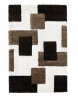 Fashion 7646 Ivory/brown Modern Machine Made Rug - 100% Polypropylene