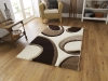 Fashion 7648 Ivory/brown Modern Machine Made Rug - 100% Polypropylene