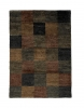 Hemp Check Natural Hand Knotted Rug - 100% Hemp