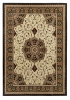 Heritage 4400 Black/cream Traditional Machine Made Rug - 100% Polypropylene