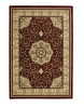 Heritage 4400 Red Traditional Machine Made Rug - 100% Polypropylene