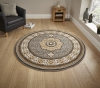 Heritage 4400 Silver Circle Traditional Machine Made Rug - 100% Polypropylene