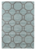 Hong Kong 4338 Blue/grey Modern Hand Tufted Rug - 100% Acrylic