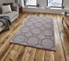Hong Kong 4338 Grey/rose Modern Hand Tufted Rug - 100% Acrylic