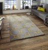 Hong Kong 4338 Grey/yellow Modern Hand Tufted Rug - 100% Acrylic