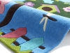 Hong Kong 4897 Blue Kids Hand Tufted Rug - 100% Acrylic