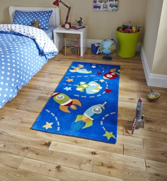 Hong Kong 6149 Blue Kids Hand Tufted Rug - 100% Acrylic