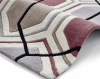 Hong Kong 7526 Grey/peach Modern Hand Tufted Rug - 100% Acrylic