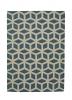 Hong Kong Hk 326 Teal/beige Modern Hand Tufted Rug - 100% Acrylic