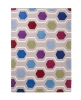 Hong Kong Hk6896 Multi Modern Floral Hand Tufted Rug - 100% Acrylic