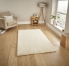 Loft 01810a Cream Shaggy Machine Made Rug - 100% Polypropylene