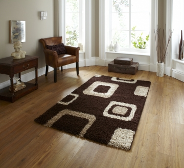 Majesty 2751 Brown Shaggy Machine Made Rug - 100% Polypropylene