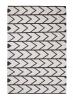 Manhattan Mh210b Black/white Flatweave Durrie Loom Woven Rug - 100% Cotton