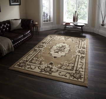 Marrakesh Beige Budget Machine Made Rug - 100% Polypropylene
