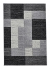 Matrix A0221 Black Floral Machine Made Rug - 100% Polypropylene
