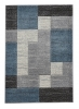 Matrix A0221 Grey/blue Floral Machine Made Rug - 100% Polypropylene