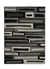 Matrix Fr 40 Black/grey Modern Machine Made Rug - 100% Polypropylene
