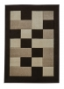 Matrix Jr04 Brown/beige Floral Machine Made Rug - 100% Polypropylene