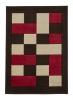 Matrix Jr04 Brown/red Floral Machine Made Rug - 100% Polypropylene