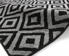 Matrix Mt 89 Black/grey Floral Machine Made Rug - 100% Polypropylene