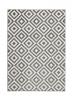 Matrix Mt 89 Grey/white Floral Machine Made Rug - 100% Polypropylene