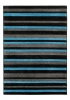 Matrix Mt22 Black/blue Modern Machine Made Rug - 100% Polypropylene