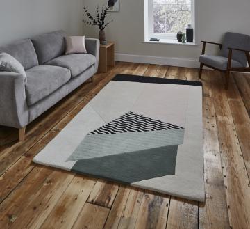 Michelle Collins Mc14 Designer Hand Tufted Rug - 100% Wool