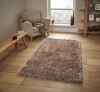 Monte Carlo Beige Shaggy Hand Tufted Rug - 60% Acrylic, 40% Viscose