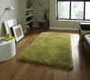 Monte Carlo Green Shaggy Hand Tufted Rug - 60% Acrylic, 40% Viscose