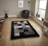 Noble House Jr04 Black Shaggy Hand Tufted Rug - 100% Polyester