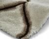 Noble House Nh30780 Cream/brown Shaggy Hand Tufted Rug - 70% Acrylic 30% Polyester