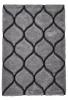 Noble House Nh30780 Silver Shaggy Hand Tufted Rug - 70% Acrylic 30% Polyester