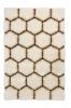 Noble House Nh30782 Cream/brown Shaggy Hand Tufted Rug - 70% Acrylic 30% Polyester