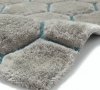 Noble House Nh30782 Grey/blue Shaggy Hand Tufted Rug - 70% Acrylic 30% Polyester