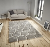 Noble House Nh30782 Grey/white Shaggy Hand Tufted Rug - 70% Acrylic 30% Polyester