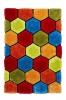 Noble House Nh30782 Multi Shaggy Hand Tufted Rug - 70% Acrylic 30% Polyester